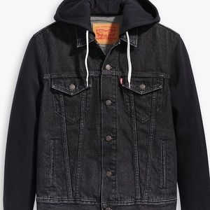 Levi's Black Hybrid Trucker XL Jacket